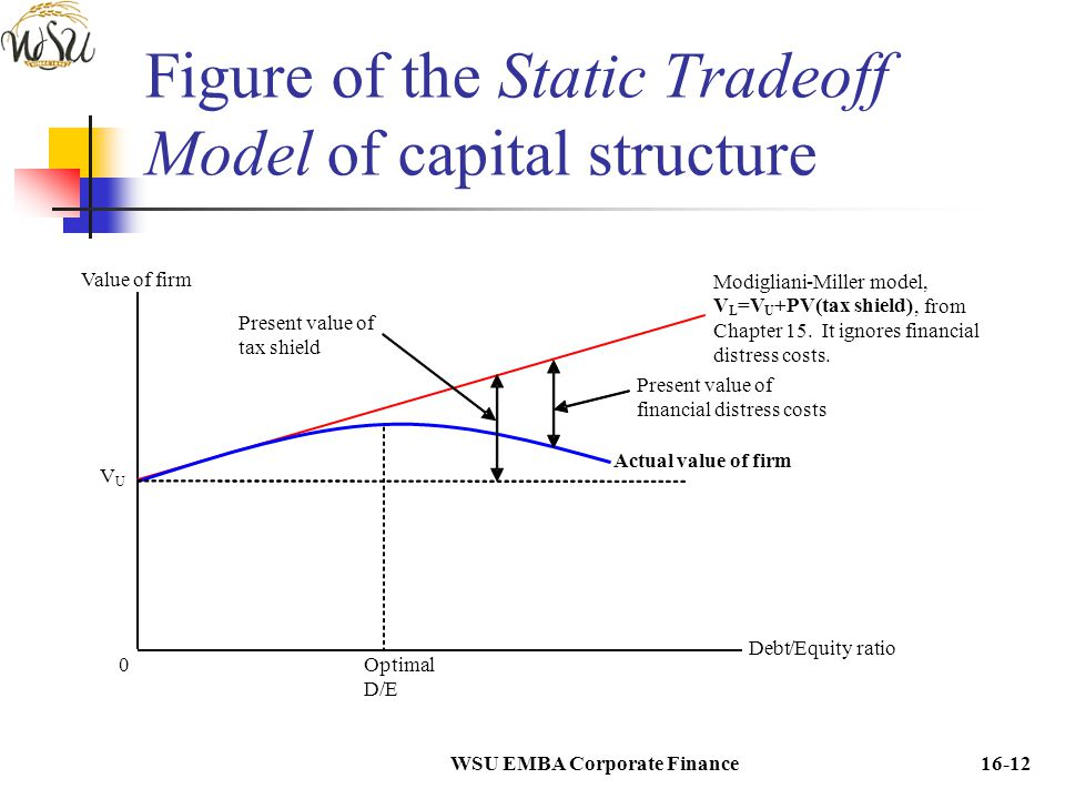 Figure of the Static Tradeoff Model of capital structure