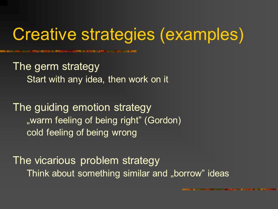 Creative strategies (examples)