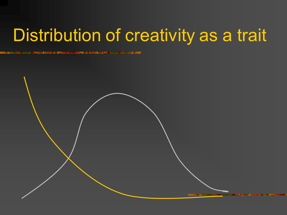 Distribution of creativity as a trait