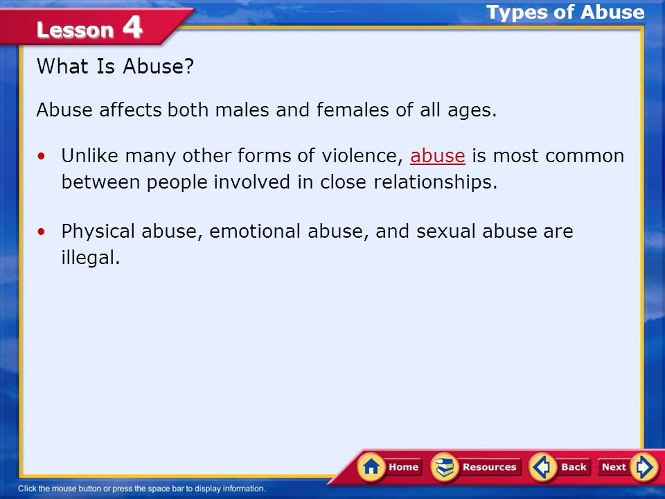 What Is Abuse Types of Abuse