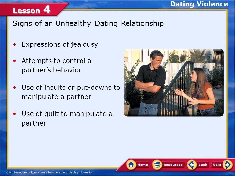 Signs of an Unhealthy Dating Relationship