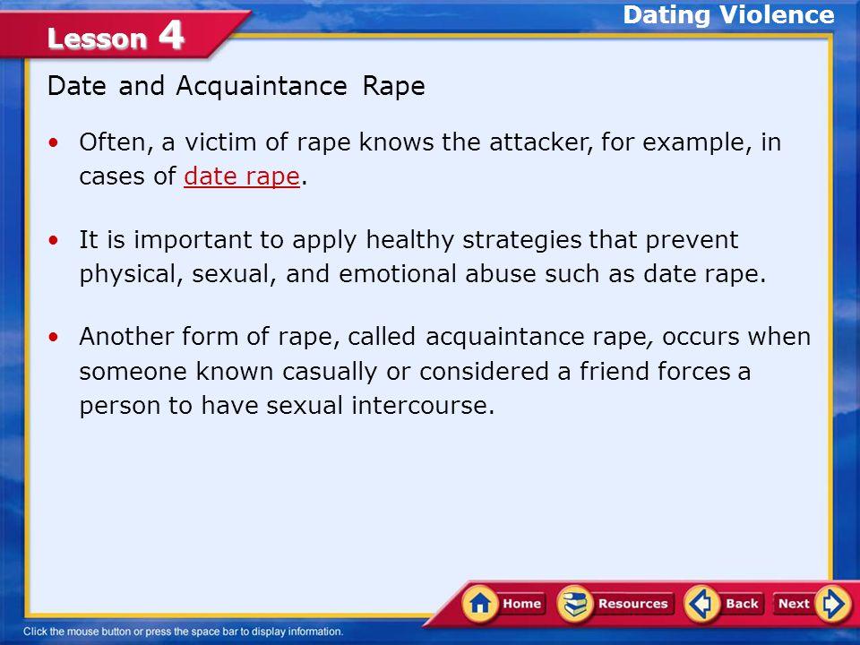 Date and Acquaintance Rape