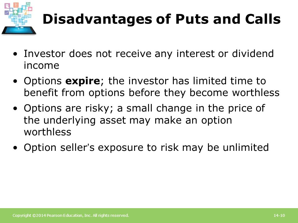 Disadvantages of Puts and Calls