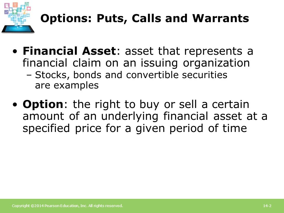 Options: Puts, Calls and Warrants