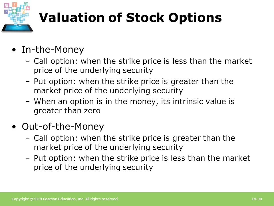 Valuation of Stock Options