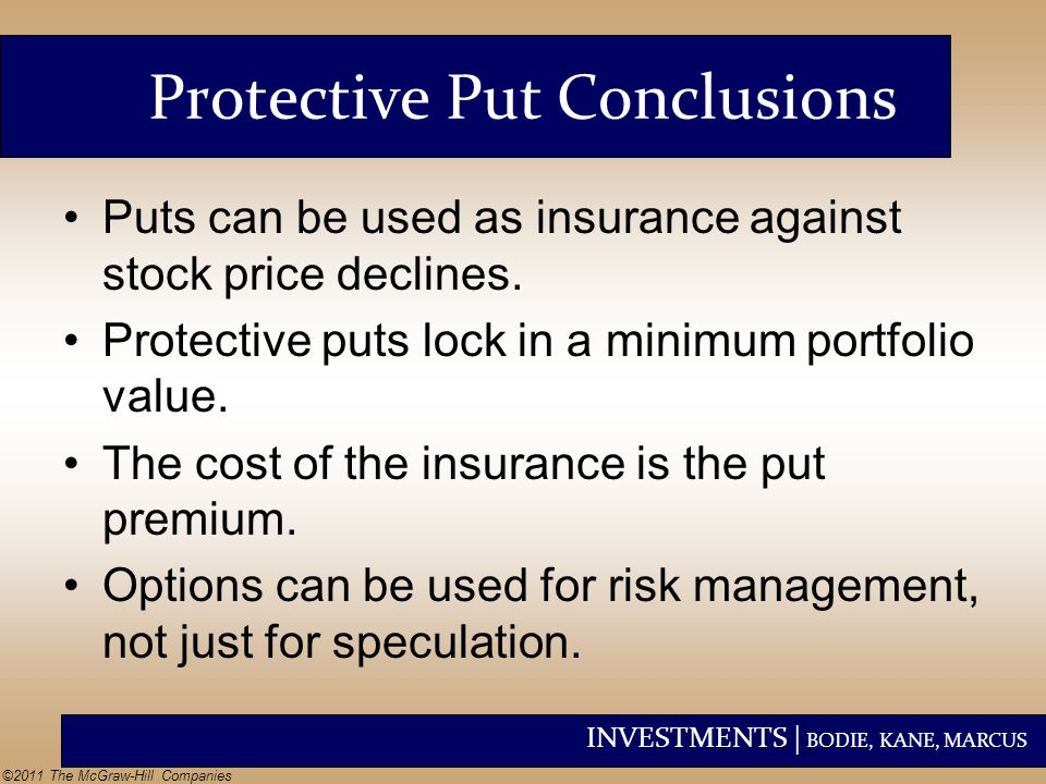 Protective Put Conclusions