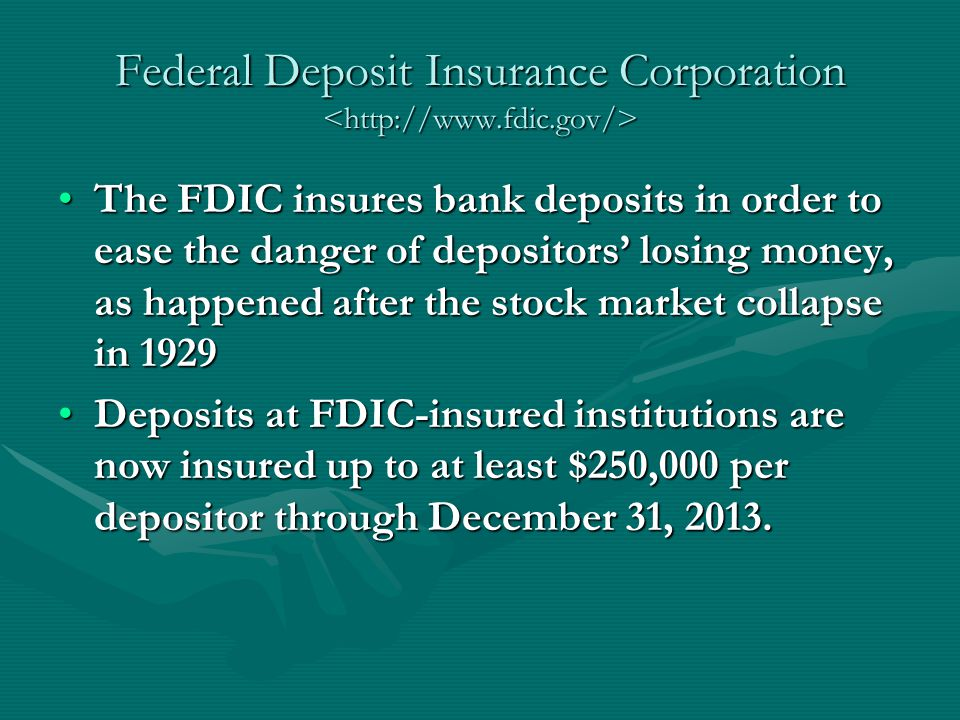 Federal Deposit Insurance Corporation <http://www.fdic.gov/>