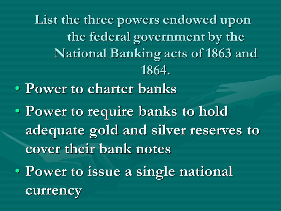 Power to issue a single national currency