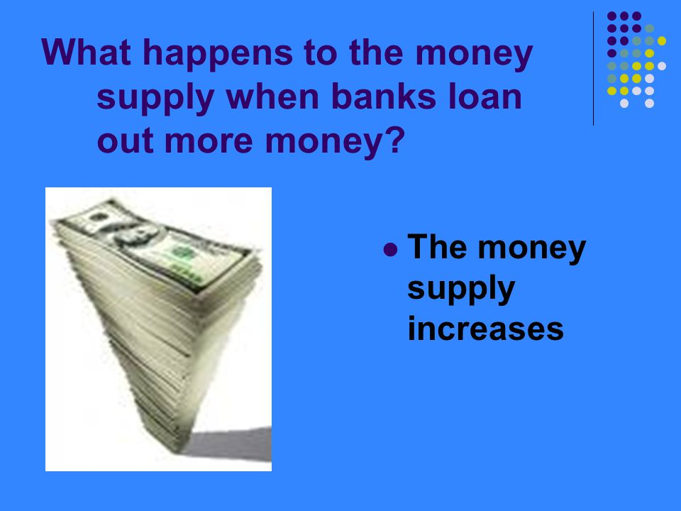 What happens to the money supply when banks loan out more money