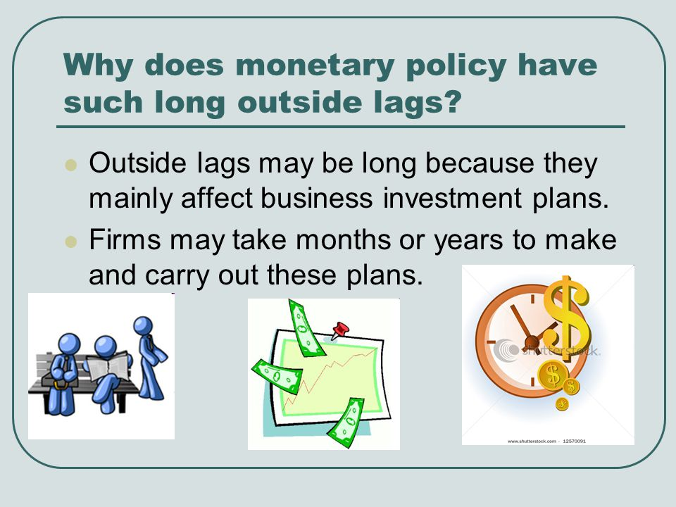 Why does monetary policy have such long outside lags