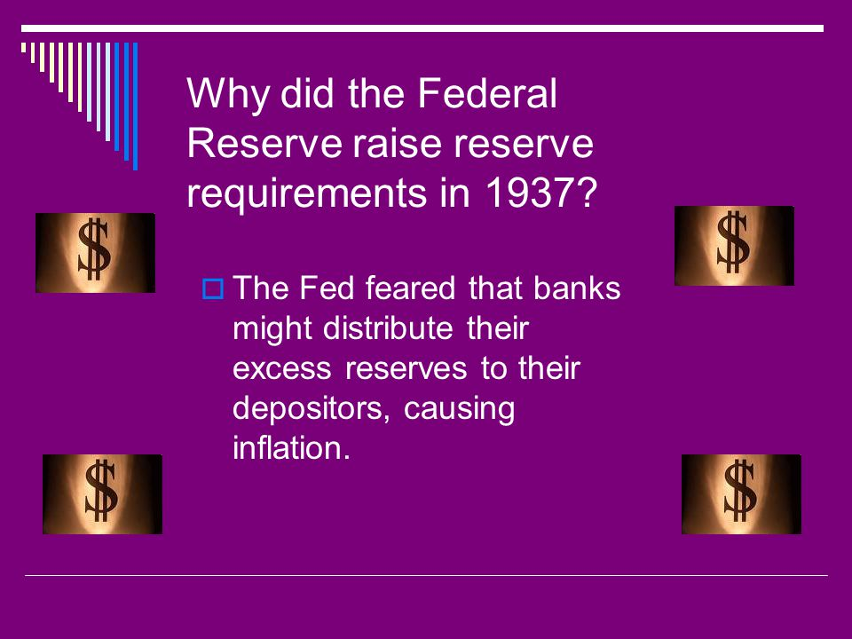 Why did the Federal Reserve raise reserve requirements in 1937