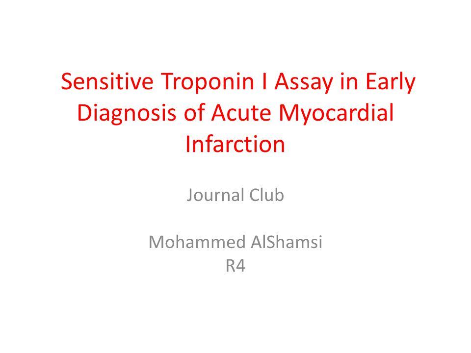Journal Club Mohammed AlShamsi R4