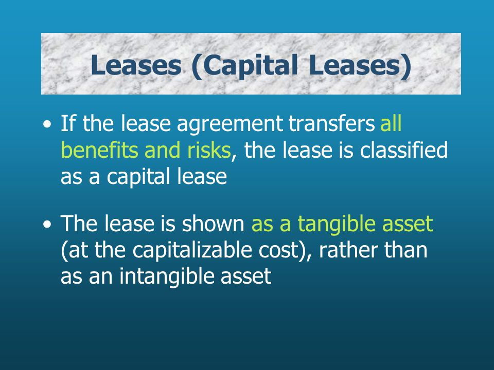 Leases (Capital Leases)