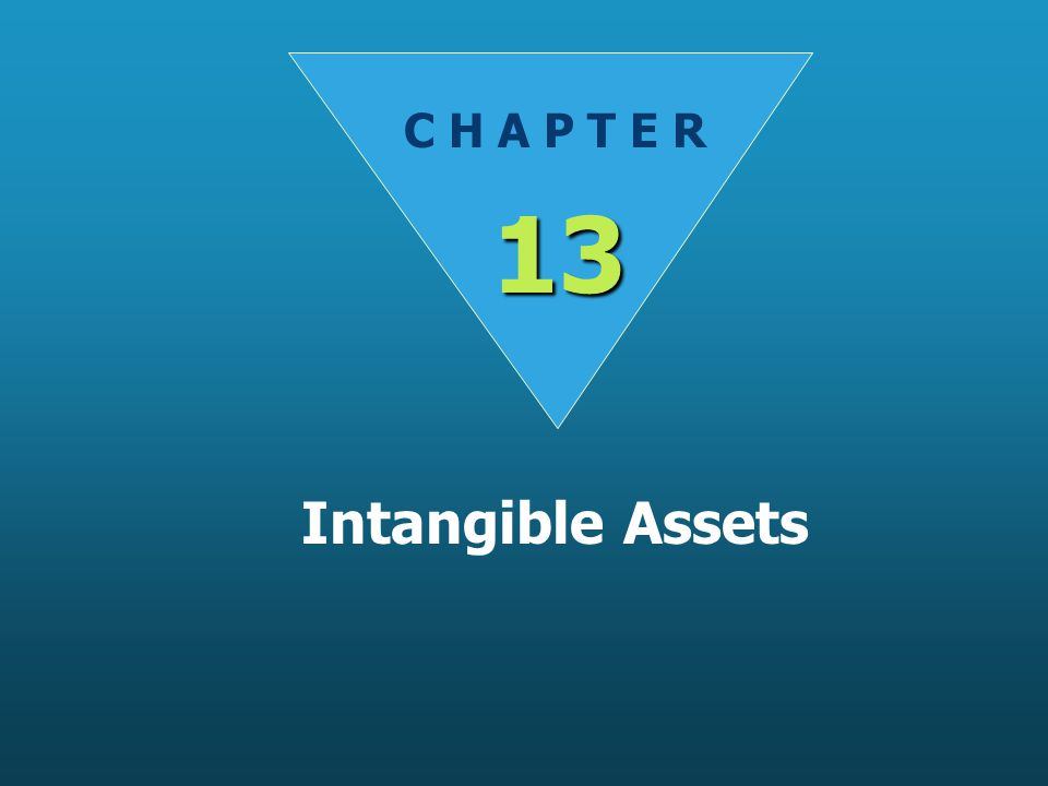 C H A P T E R 13 Intangible Assets