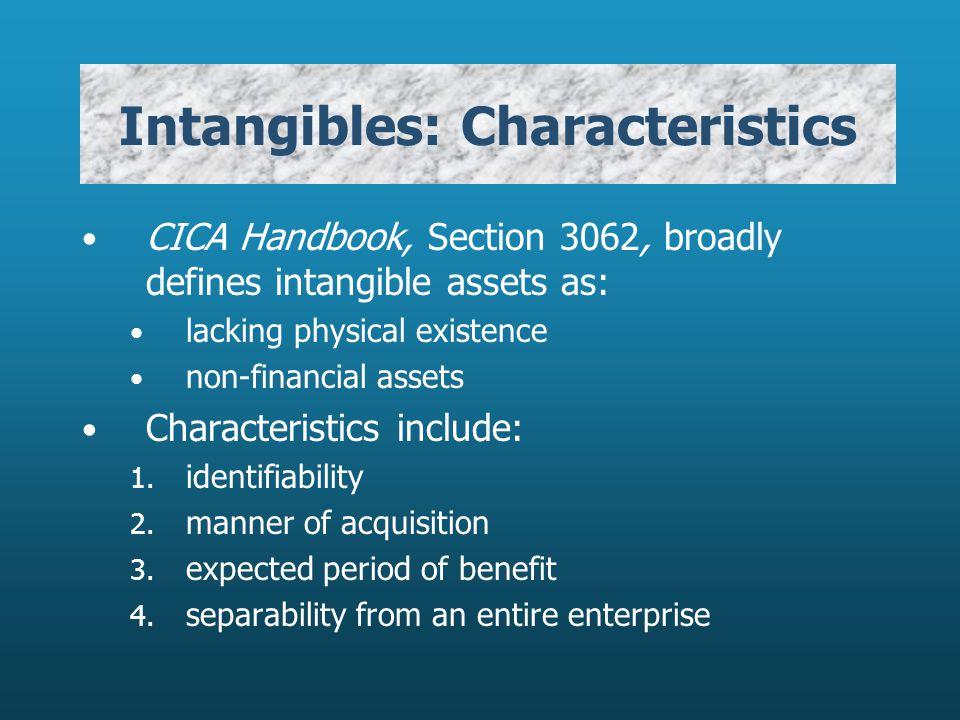 Intangibles: Characteristics