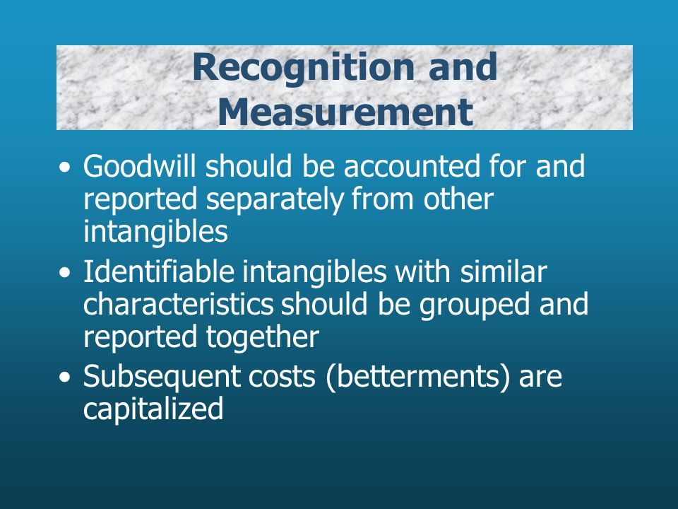 Recognition and Measurement