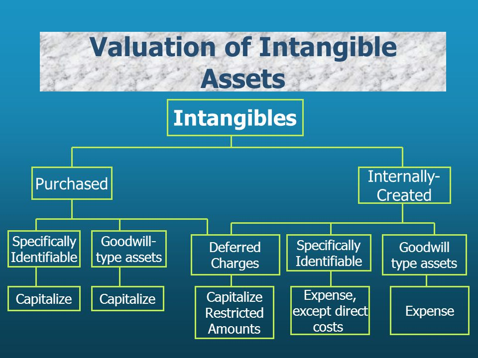 Valuation of Intangible Assets