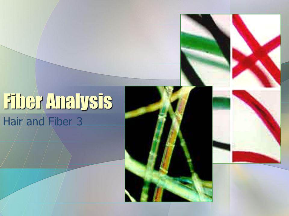 Fiber Analysis Hair and Fiber 3