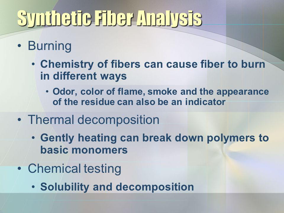 Synthetic Fiber Analysis