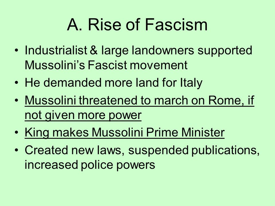 fascist movement and rulers To rail against the transformation of 'fascist' into the rulers of society this fascist movement is made up from the 'crazed petty bourgeoisie and.
