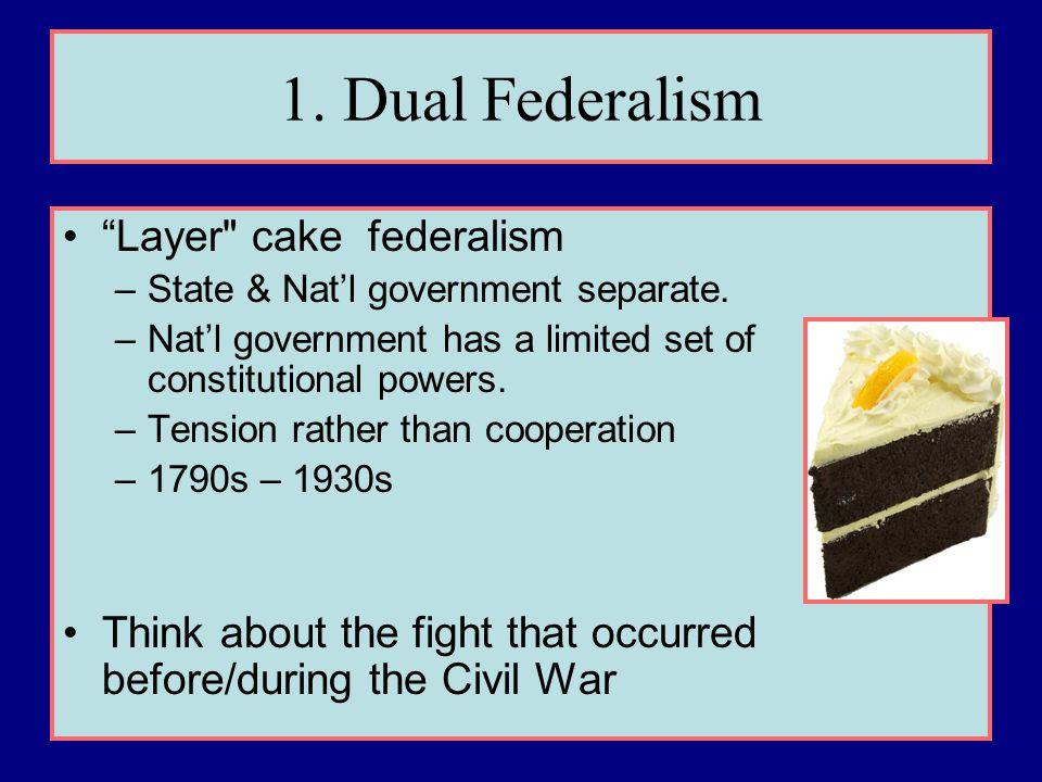 1. Dual Federalism Layer cake federalism