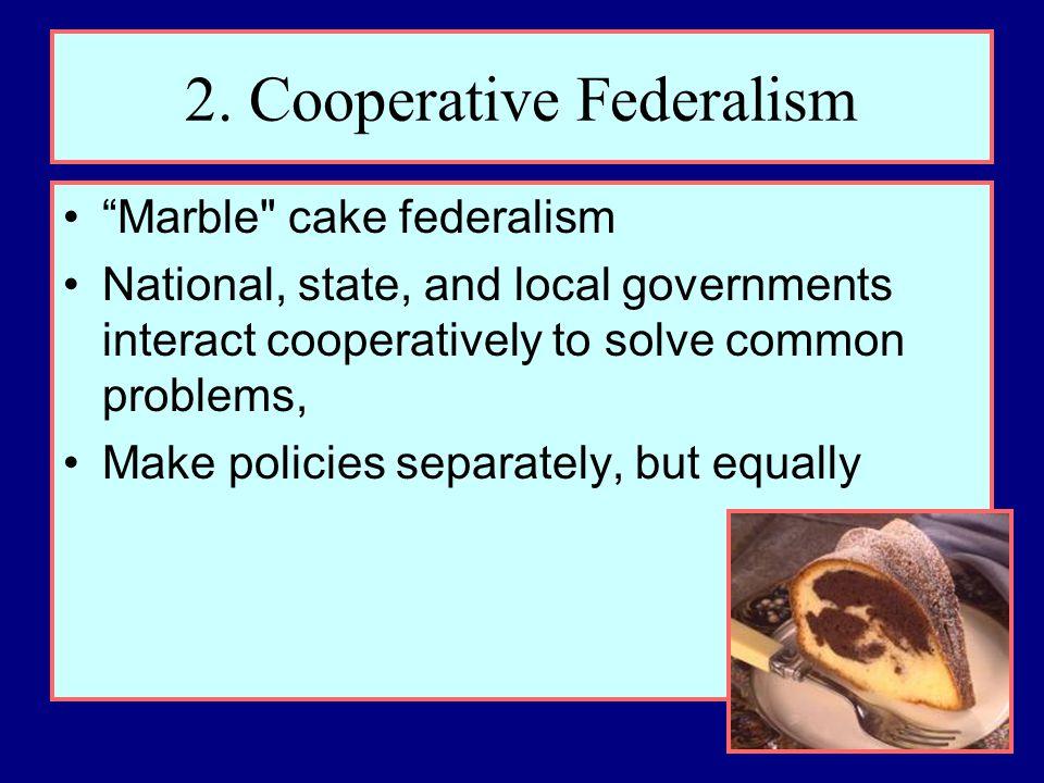 2. Cooperative Federalism