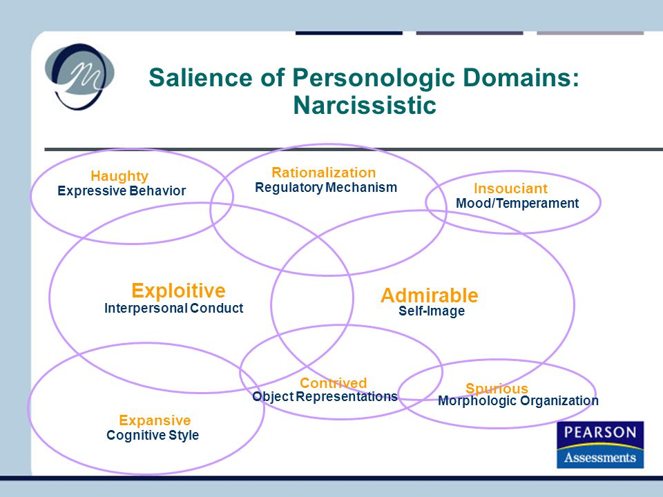 Salience of Personologic Domains: Narcissistic