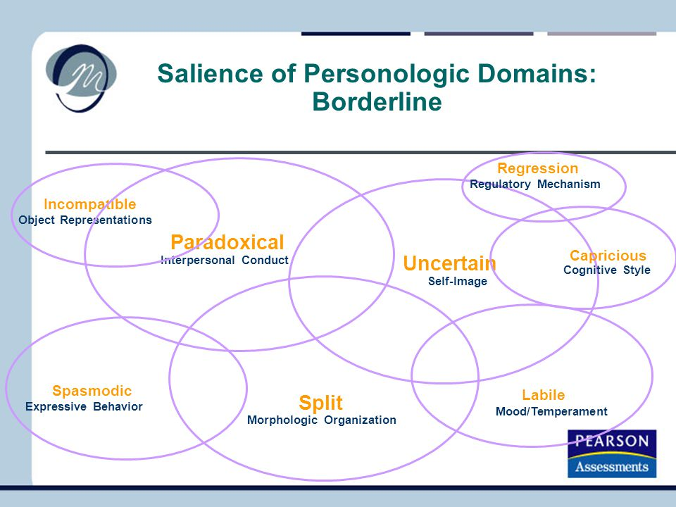 Salience of Personologic Domains: Borderline