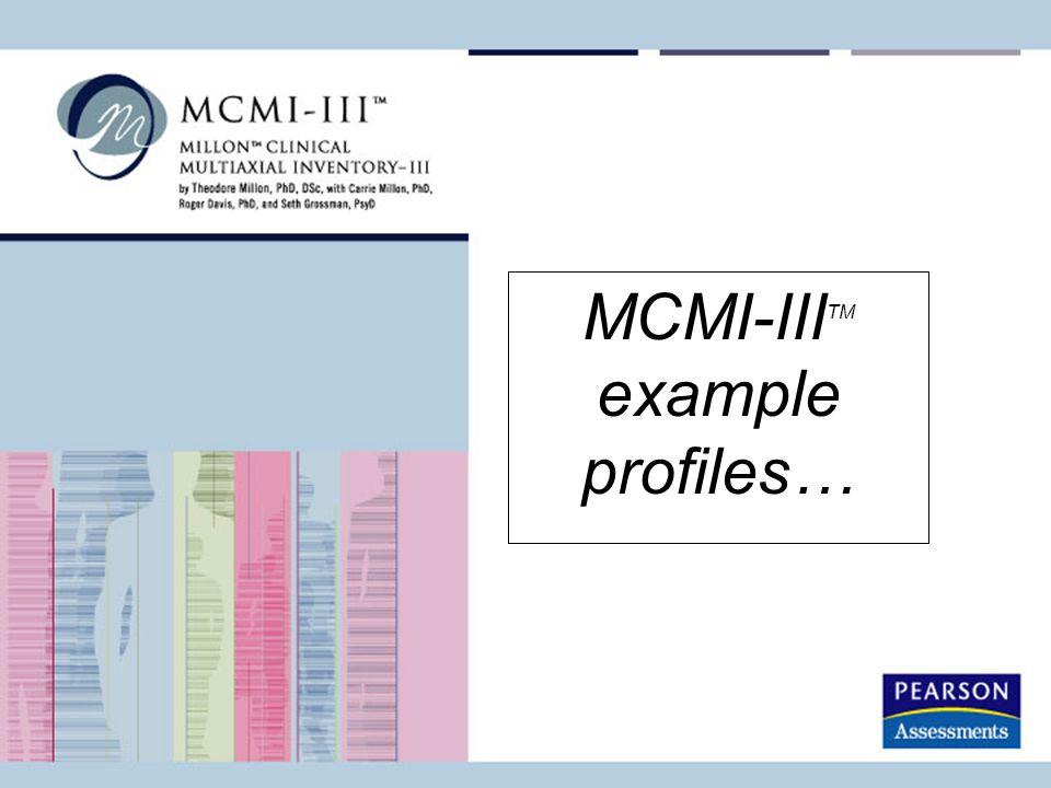MCMI-IIITM example profiles…