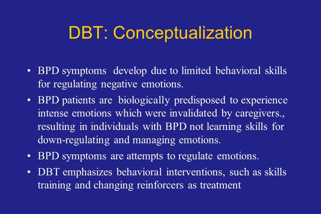 DBT: Conceptualization