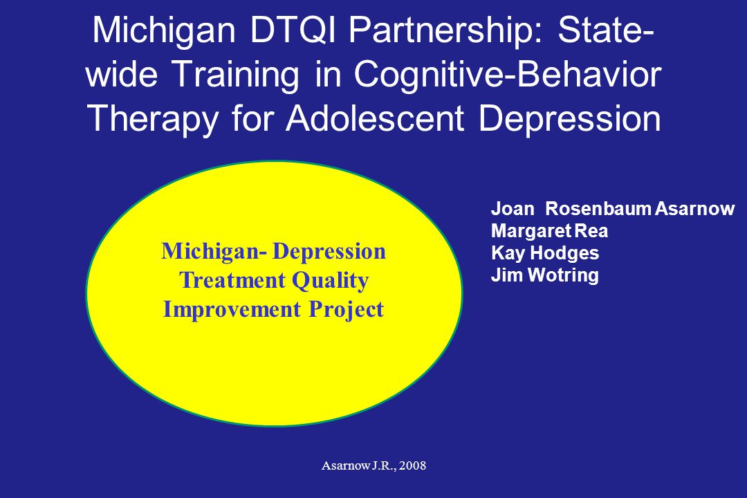 Michigan- Depression Treatment Quality Improvement Project