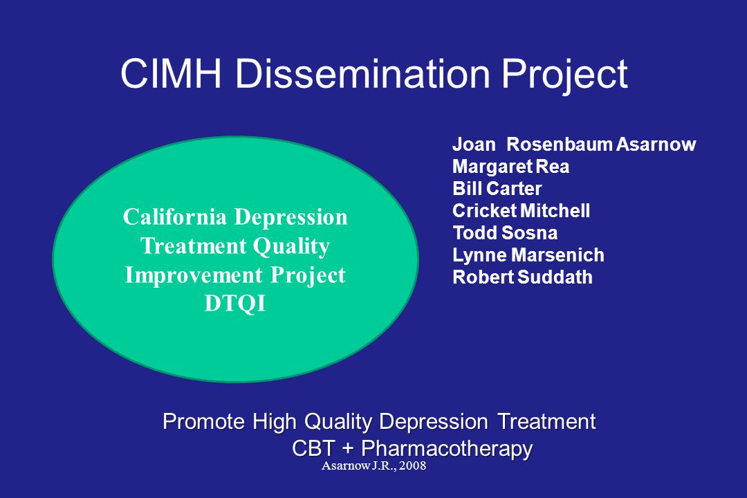 CIMH Dissemination Project