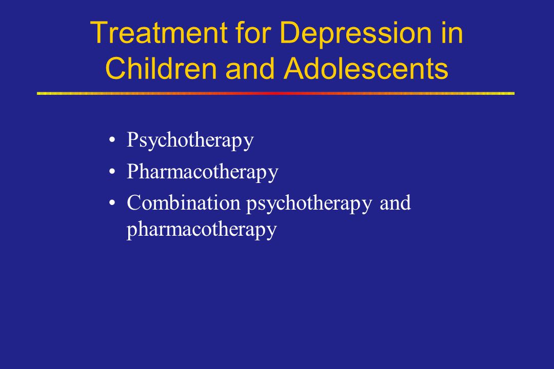 Treatment for Depression in Children and Adolescents