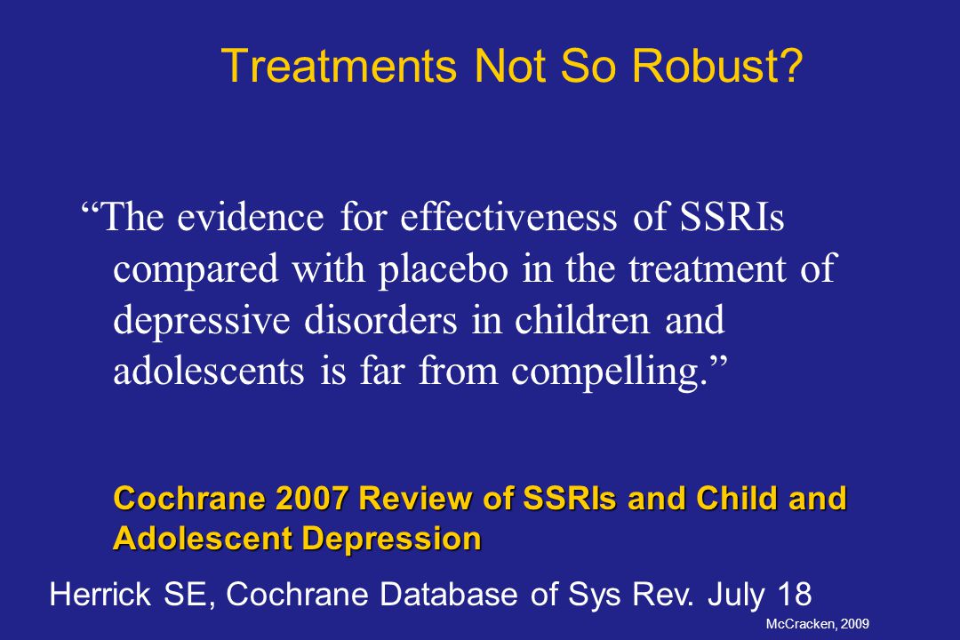 Treatments Not So Robust