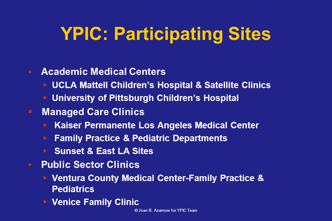 YPIC: Participating Sites