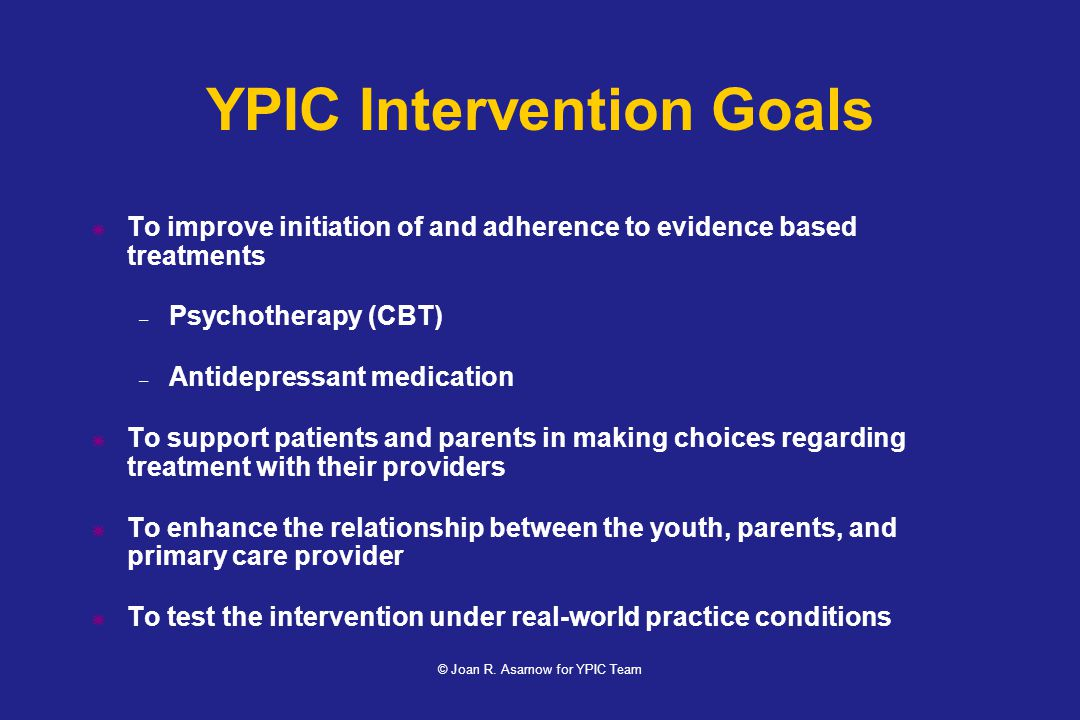 YPIC Intervention Goals