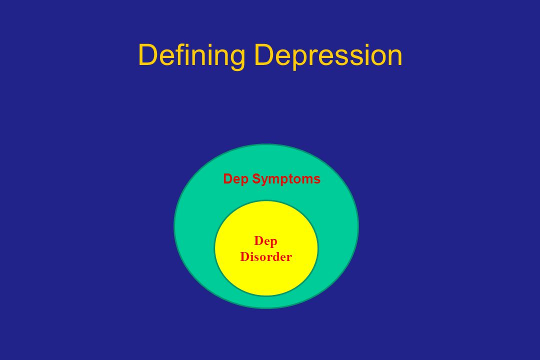 Defining Depression D Dep Symptoms Dep Disorder