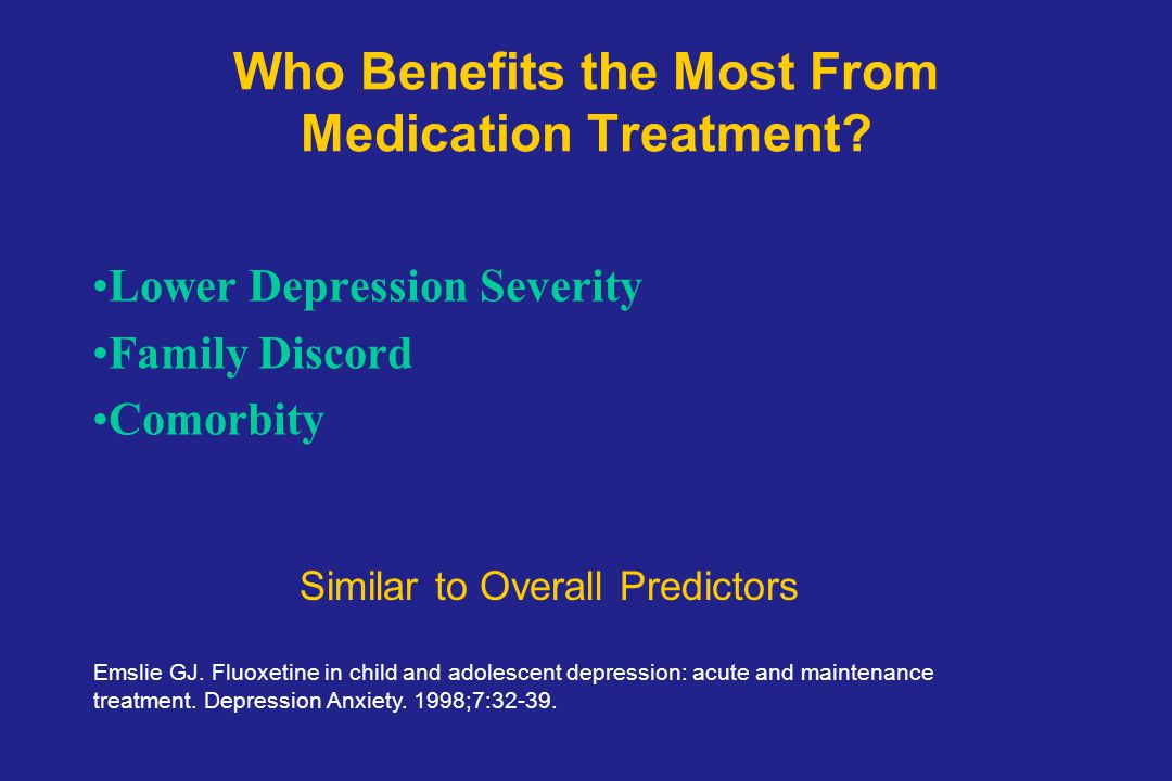 Who Benefits the Most From Medication Treatment