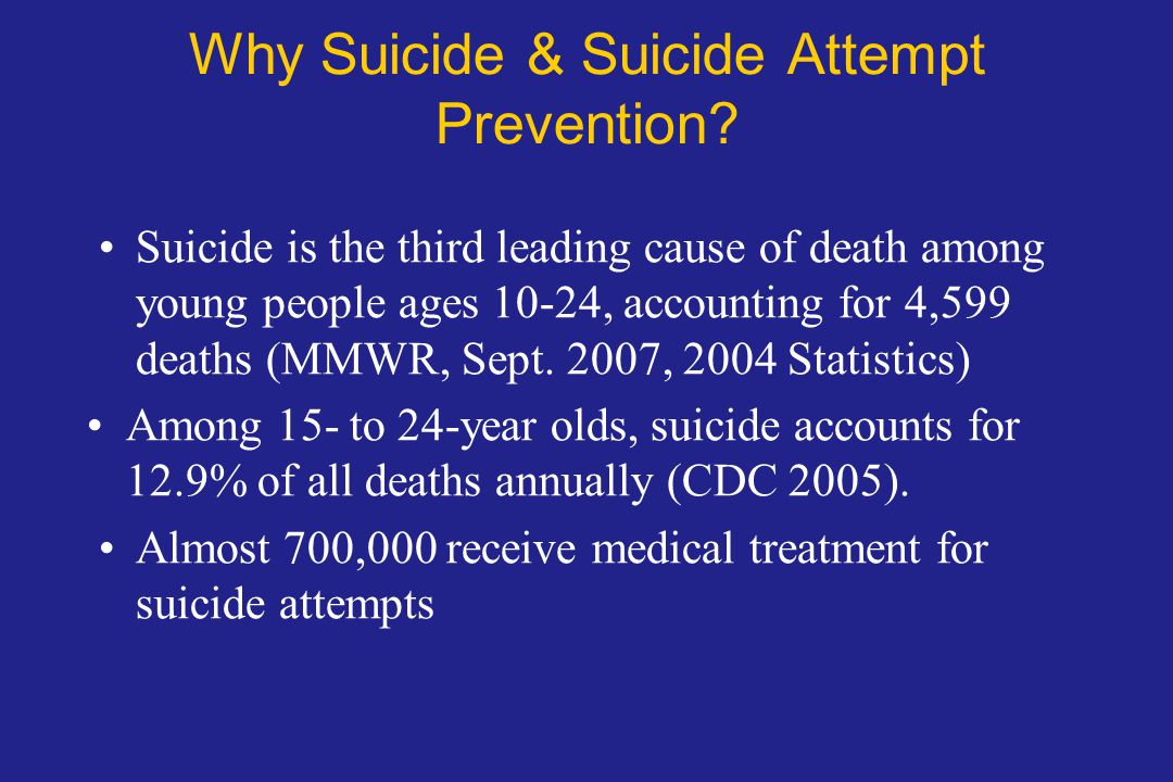 Why Suicide & Suicide Attempt Prevention