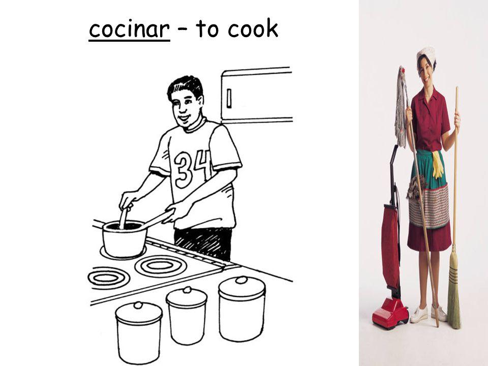 cocinar – to cook