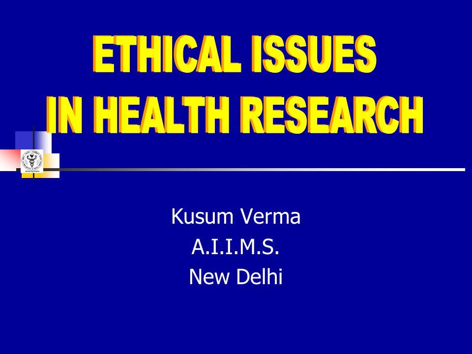 Kusum Verma A.I.I.M.S. New Delhi