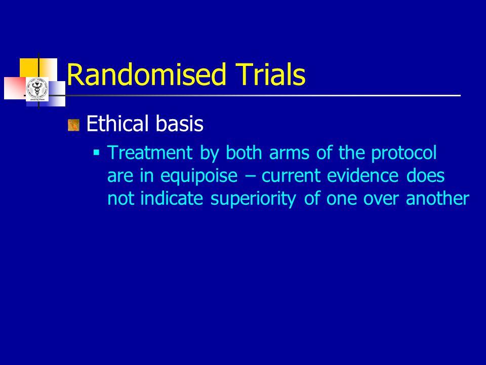 Randomised Trials Ethical basis