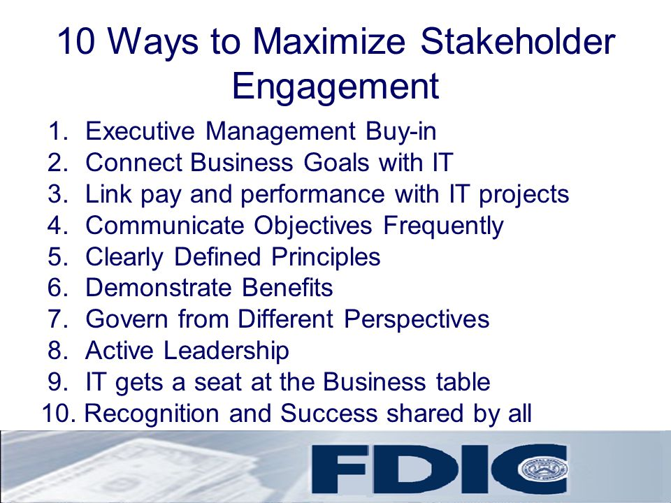 10 Ways to Maximize Stakeholder Engagement