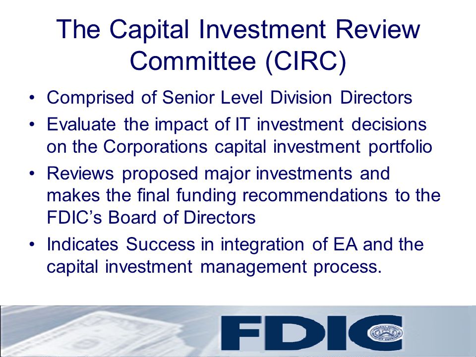 The Capital Investment Review Committee (CIRC)