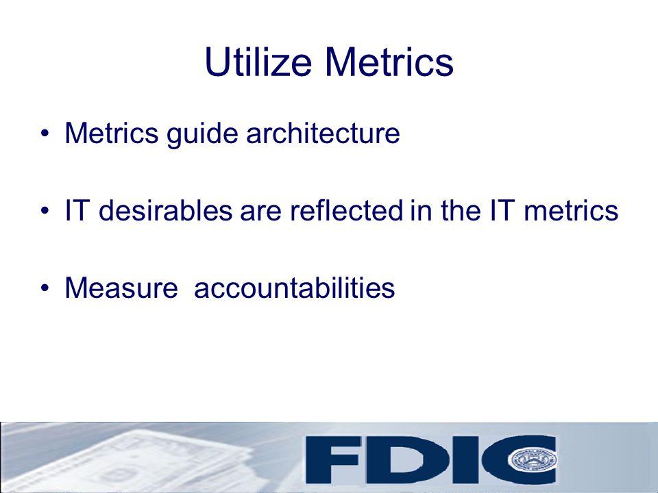 Utilize Metrics Metrics guide architecture
