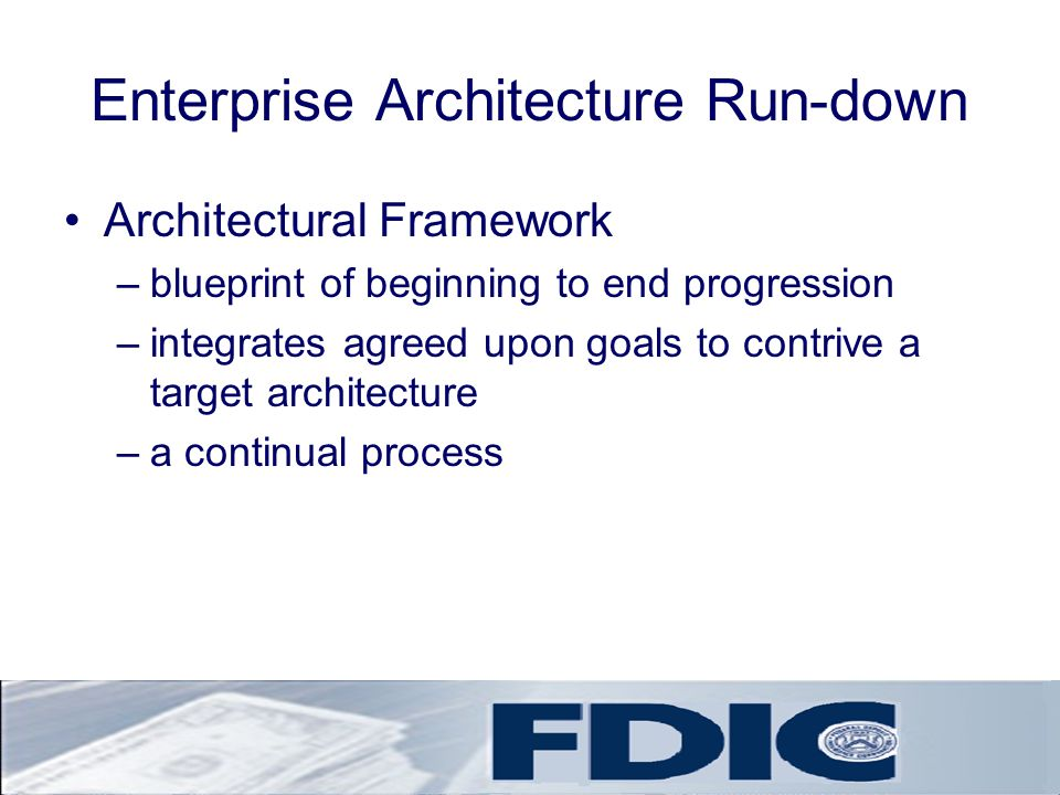 Enterprise Architecture Run-down