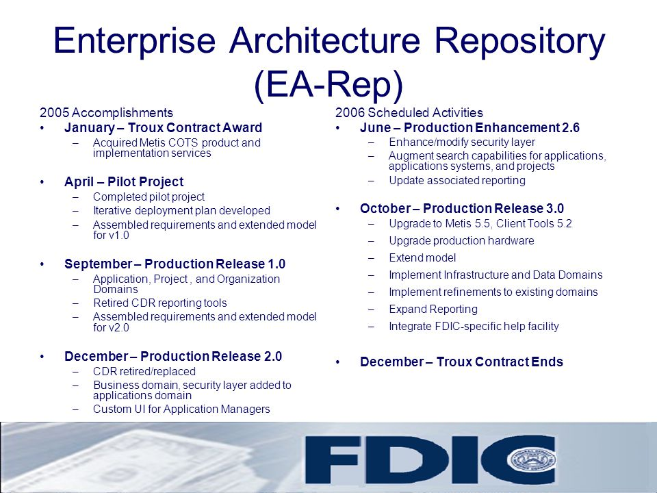 Enterprise Architecture Repository (EA-Rep)