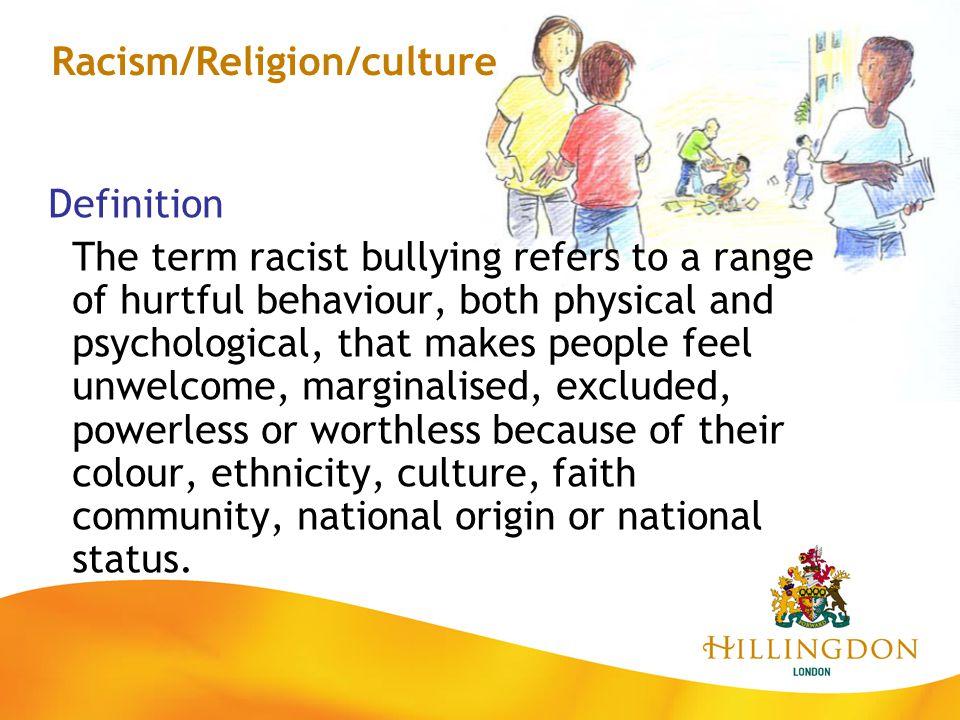 Racism/Religion/culture