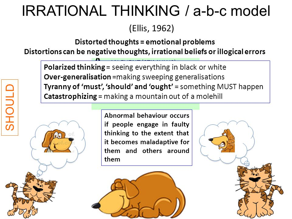 Distorted thoughts = emotional problems