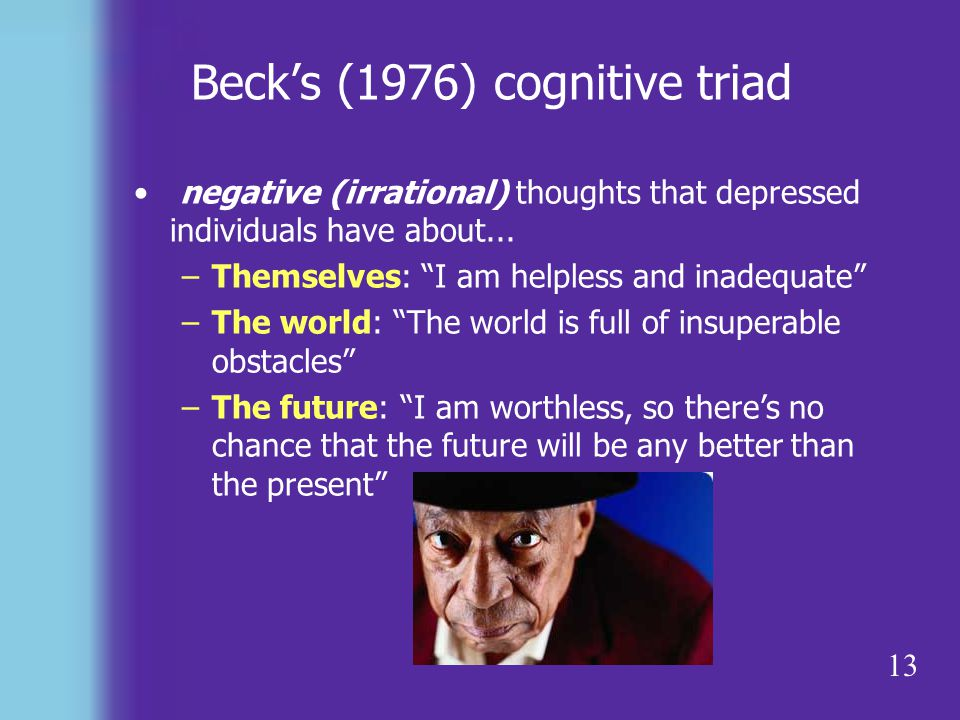 Beck's (1976) cognitive triad
